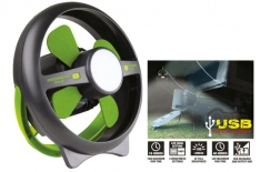 Rechargeable Tent Fan w/Led Light