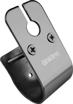 Uniden – 50mm Glossy Stainless Steel Bull Bar Mount with Cable Slot