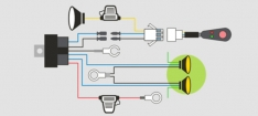 Wiring Harness Loom – Driving Lights with DRL's