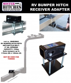RV Bumper Hitch Receiver Suit 4″ to 4.5″ – Mister Hitches