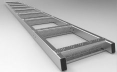 Alucab Ladder Extension – Uncoated (600mm Approx)