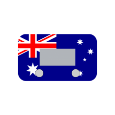 Ultimate 9 Cover Plate – Aussie Flag